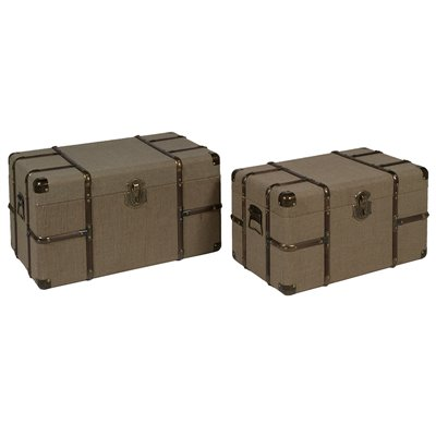 Set of 2 vintage trunks