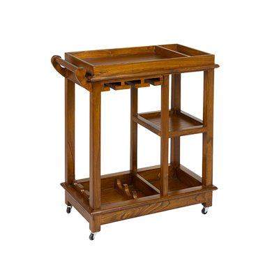 Colonial style cocktail cart
