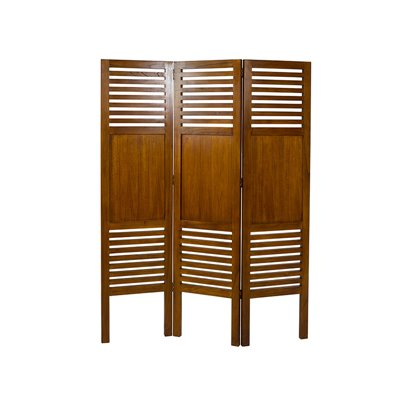 Open colonial folding screen