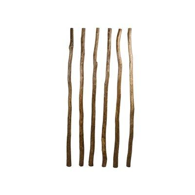 Set aus 6 Holzstangen