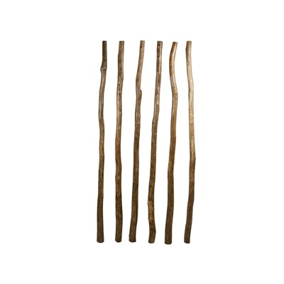 Set / Conjunto de 6 cañas de madera