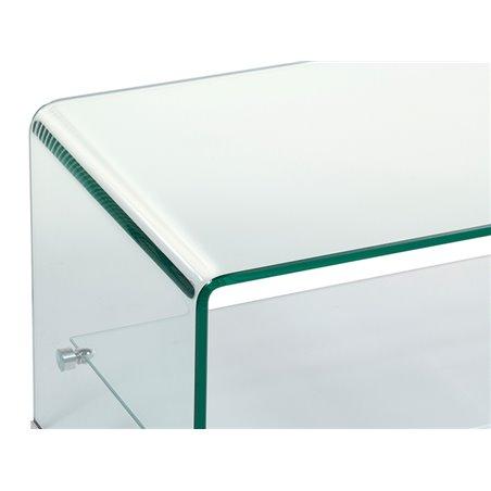 Rectangular glass coffee table