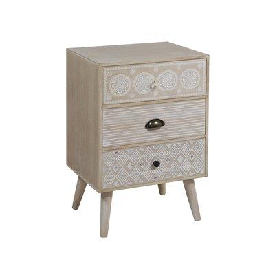 Boho Coffee table with 3 drawers