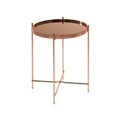 Golden round coffee table