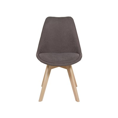 Gray velvet chair