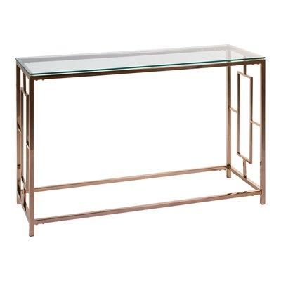 Mueble recibidor con cristal Vel oro