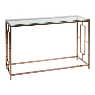 Vel gold Hall Furniture with glass