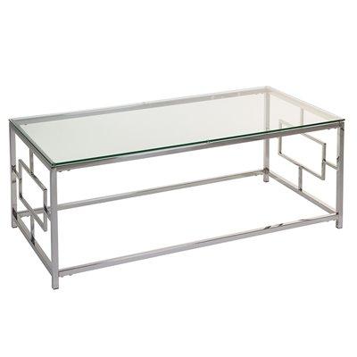 Mesa centro con cristal Vel