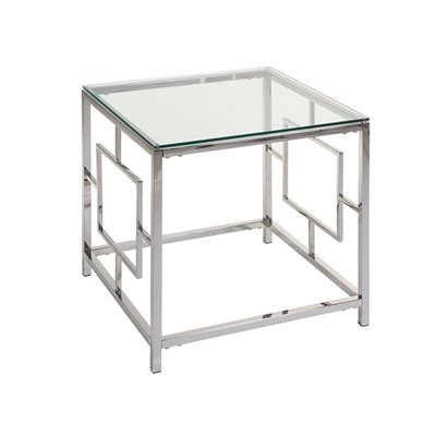 Vel side table with glass