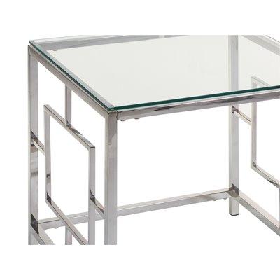 Mesa auxiliar con cristal Vel