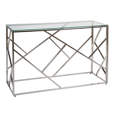 Abstract Konsolentisch mit Glas