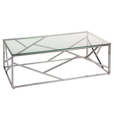 Abstract Coffee table with glass