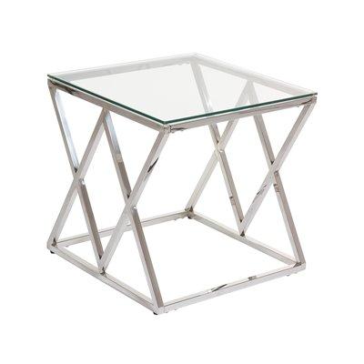 Abstract Beistelltisch mit Glas