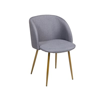 Gray chair and legs gold color