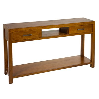 Colonial style Console table with two drawers straight