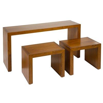 Consola estilo colonial con 2 mesas