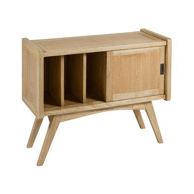 Table console - Mobilier de bibliothèque Jenki bois clair