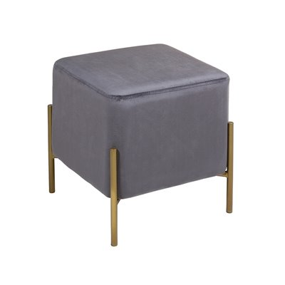 Gold and gray square stool