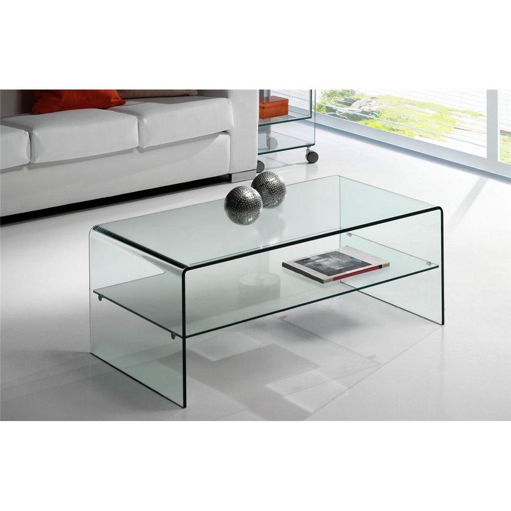 Mesa de centro Mini de cristal Cardinia 90 cm