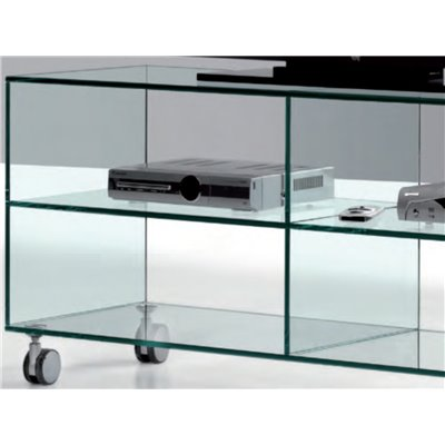 Crystal TV table with wheels Kolet 125 cm