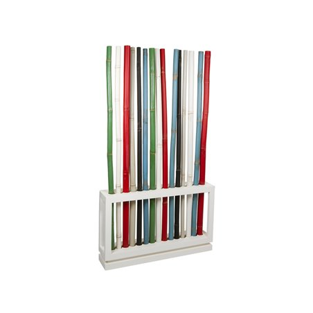 Colored bamboo stand