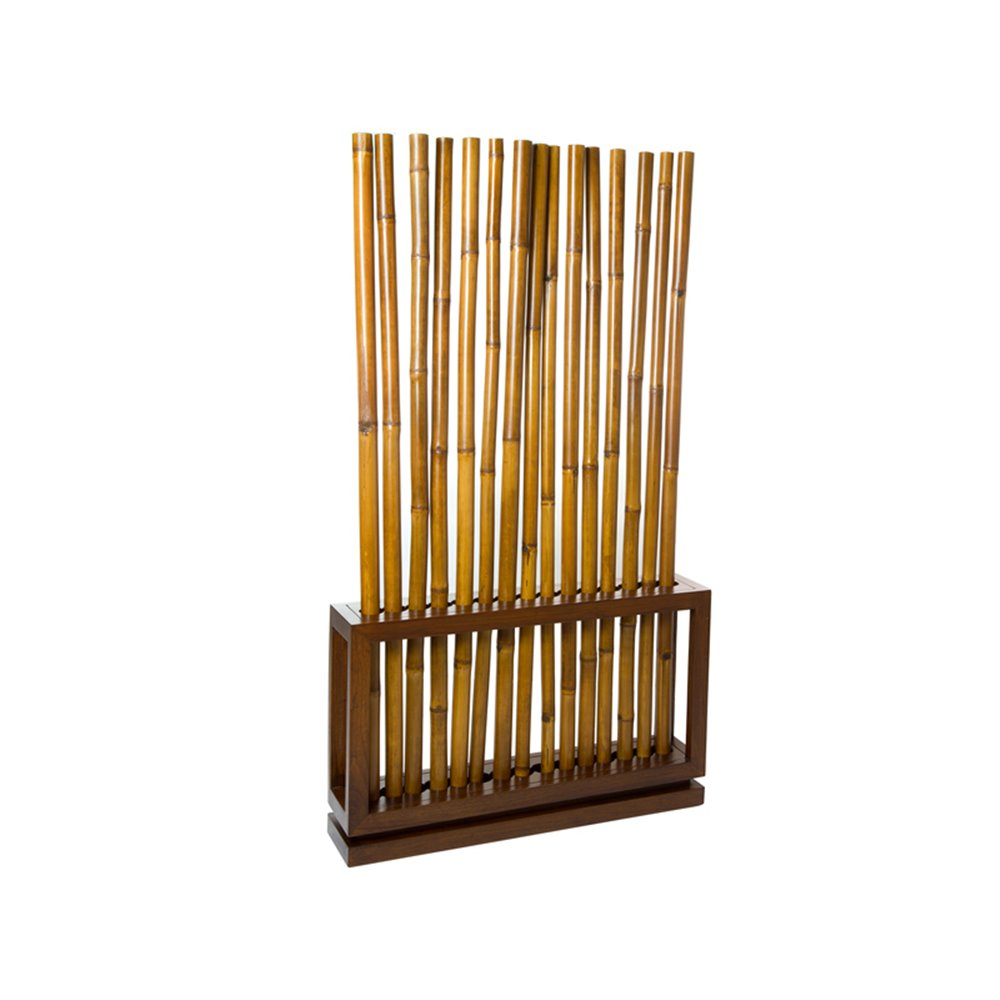 Walnut colored bamboo stand