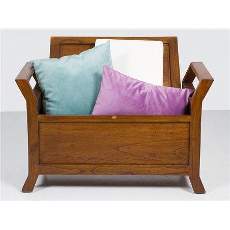 F-599 chair with storage + cushion