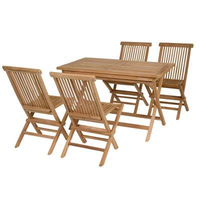 Taula de teca amb 4 cadires