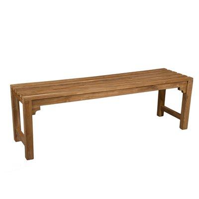 Banco de 2 asientos en teca 140 cm