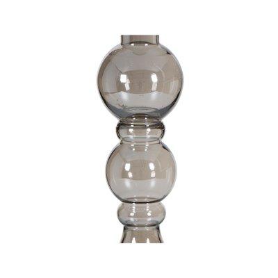 Jarrón plata cristal