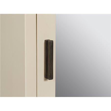 Zapatero Hall Crema con espejo 50x20x170 cm