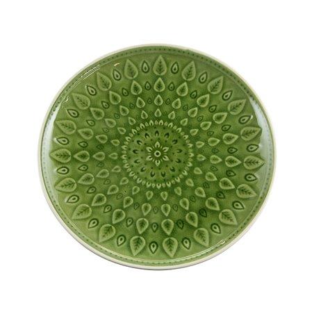 Plato llano natural verde