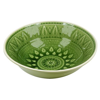 Green natural deep plate