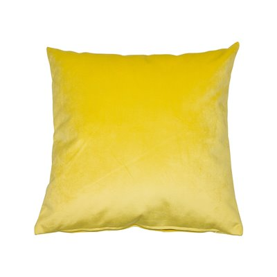 Cojín Velvet amarillo 45x45 cm