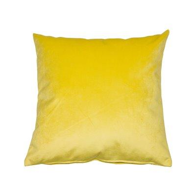 Coxín Velvet amarelo 45x45 cm
