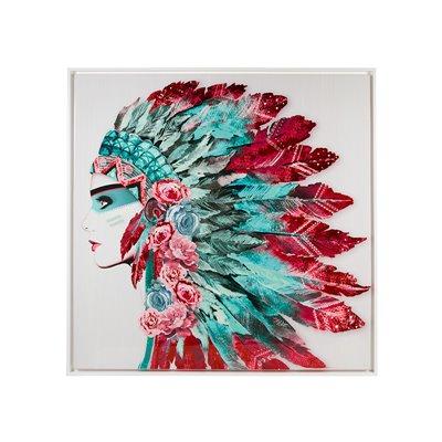 Cuadro plumas india