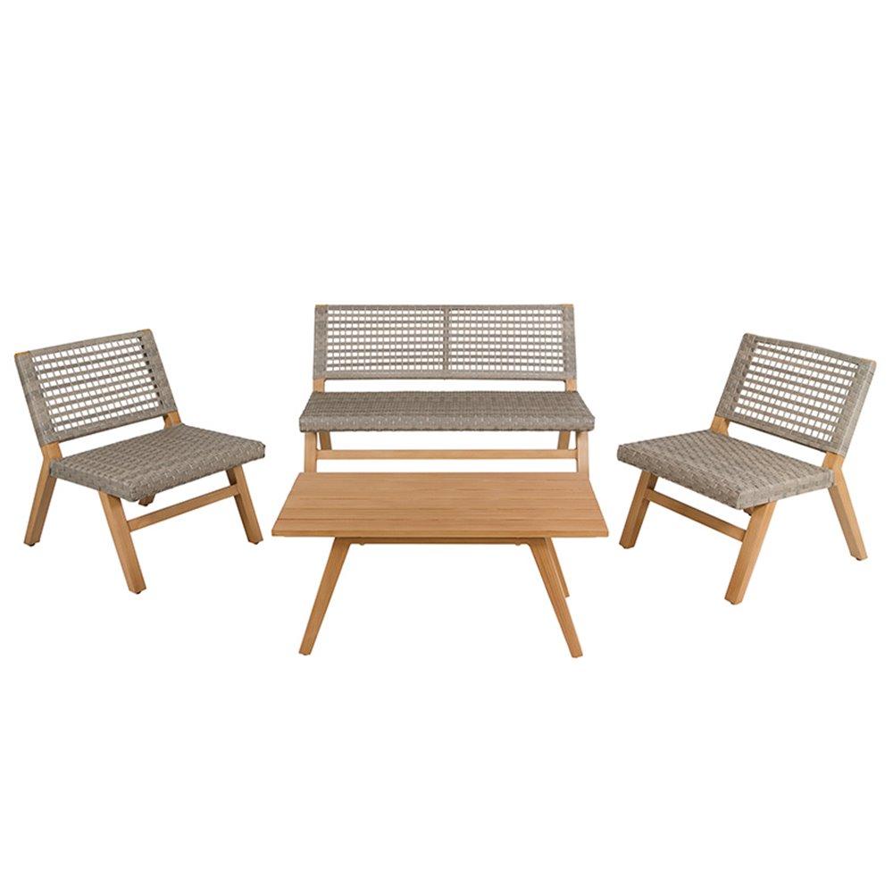 Sun 4 Stück Garten Sitzgarnitur