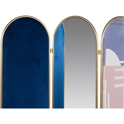 Biombo - Écran pliable ovale bleu