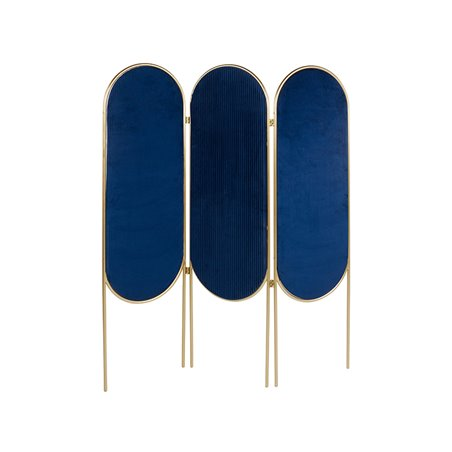 Paravent oval blau