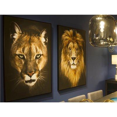 Peinture à l'huile lionne
