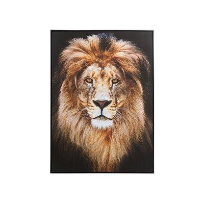 Peinture à l'huile lion