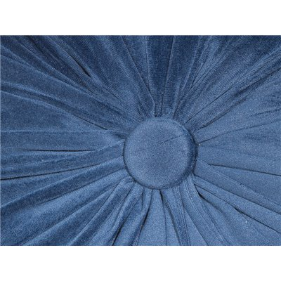 Blue round cushion