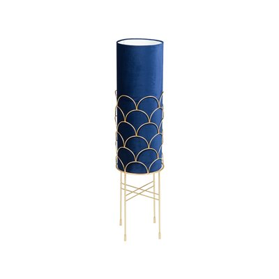 Lámpara de pie azul