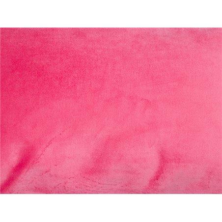 Velvet cushion magenta