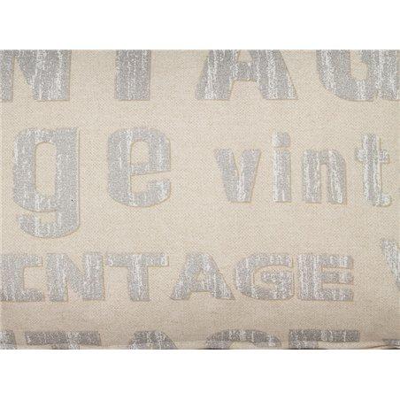 Coxín Vintage prata