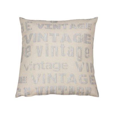 Vintage silver cushion