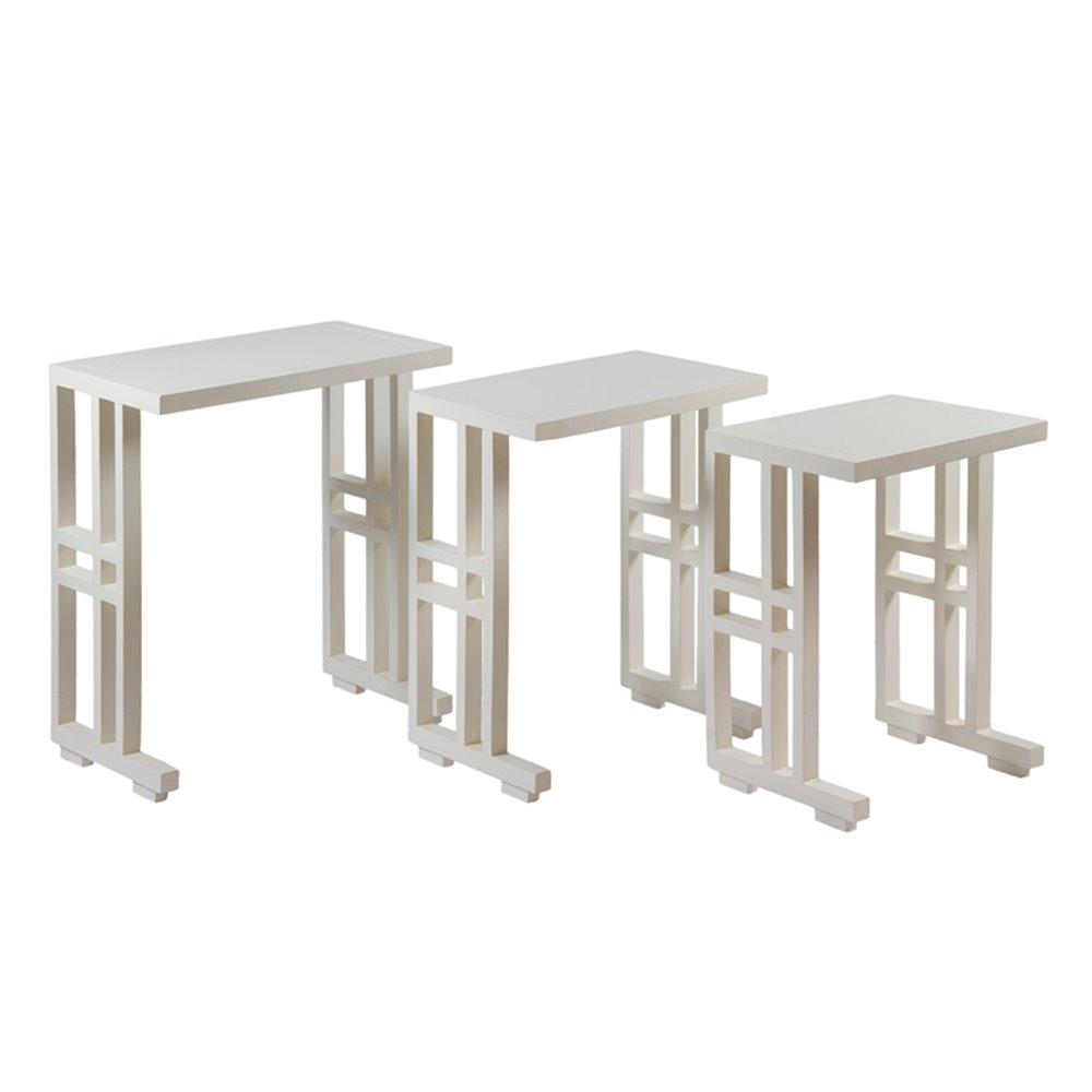 Xogo de 3 mesas Niño brancas