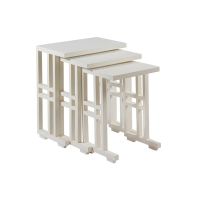 Juego de 3 mesas Nido blancas