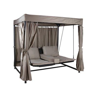Sofà amb tendal per a jardí i exterior