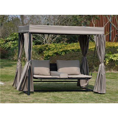 Sofa with awning for garden and outside